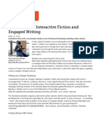 article new tools for interactive fiction and engaged writing   edutopia