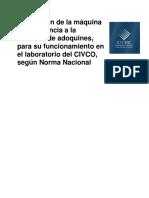 Calibración Máquina Resistencia Abrasión Adoquines Funcionamiento Laboratorio CIVCO Norma Nacional