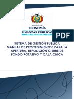 18 Manual Procedimiento Fondo Rotativo y Caja Chica