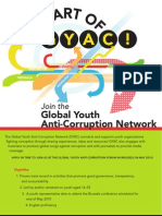 Global Youth Anti Corruption Forum Poster