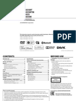 Manual Book Kenwood Mobilio - LVT2507-001A | I Pod | I Phone