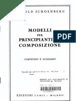 Arnold Schoenberg - Modelli per principianti di composizione.pdf