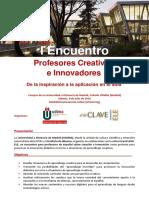 Programa_Encuentro de Profesores Creativos e Innovadores