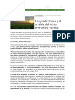 Las Predicciones y El Análisis Del Futuro Energético Mundial