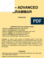 CPE Speaking - Advanced Grammar