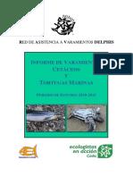 Informe de varamientos de cetáceos y tortugas 2010-2015
