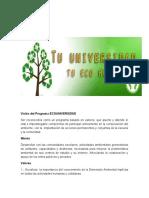 Visión Del Programa Ecouniversidad