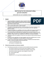 Recommended Format for Instrument Rating Ground Evaluation