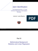 Part 3 - Mathematical Background; Statistics and Linear Regression