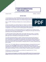 2014 Bar Exam Questions
