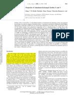4. Characterization and Acidic Properties of Aluminum-Exchanged Zeolites X and Y