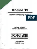Module 12 Mechanical Testing of Welds