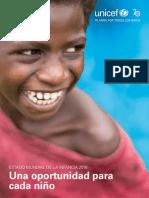 """""""Estado mundial de la infancia 2016; una oportunidad justa para cada niño"""""""