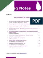 Briefing Notes May 2010