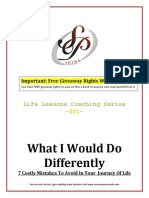 What i Would Do Differently(1)