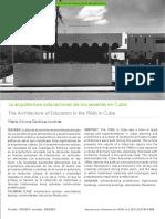 Cuba La Arquitectura Educacional de Los Sesenta