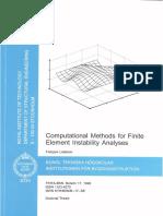 Computational Methods for Finite Element Instability Analyses