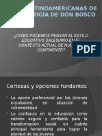 Claves Latinoamericanas de La Pedagogía de Don Bosco