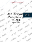 2016 Democratic Party Platform Draft