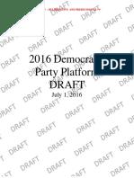 2016 Democratic Party Platform Draft