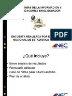 Uso de TICS Ecuador