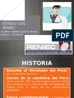 Registro de Estado Civil - Reniec