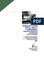AMARC- Community Radio Social Impact Assessment