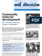 Id21 Email Discussion Report - Community Radio for Development