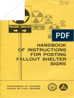 HANDBOOK OF INSTRUCTIONS FOR POSTING FALLOUT SHELTER SIGNS