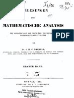 Vorlesungen über mathematische Analysis