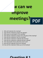 Improve meetings