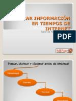 Buscar Información en Tiempos de Internet Taller de Periodismo Digital