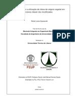 Estudo Sobre a Utilização de Óleos de Origem Vegetal Em Motores Diesel n Modificados