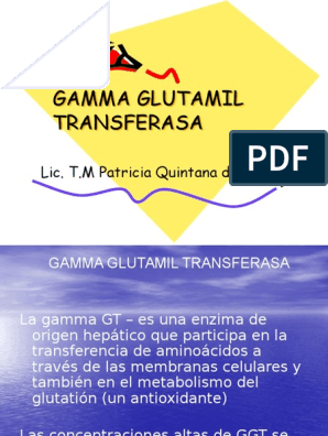 Que significa gamma gt alta