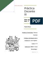 PLAN de Clase Nro 1, Practica III Con Ajustes (1)