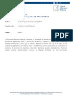 Programa Bolivia Julio 2016