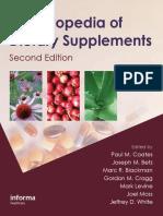 Encyclopedia of Dietary Supplements 2nd Ed - P. Coates, Et Al., (Informa, 2010) WW