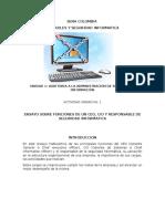 Actividad Unidad 1 Funciones de Un Ceo, Cio y Encargado de Seguridad Informática