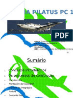 Fabricação Avião Pilatus PC 12 elaborado por Francisco Moraes aguiar filho