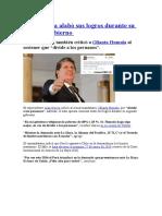 Alan García Alabó Sus Logros Durante Su Segundo Gobierno