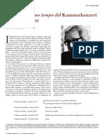 Analisi Del Primo Tempo Del Kammerkonzert Di Gyorgy Ligeti