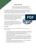 LinearProgramming Student Worksheet