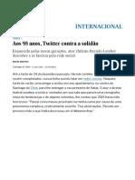 Aos 95 Anos, Twitter Contra a Solidão _ Internacional _ EL PAÍS Brasil Móvel