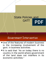 State policies and GATT
