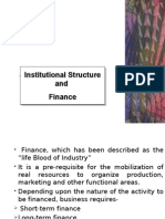 Institutional Structure and  Finance