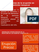 Alteraciones Erupcion Dental