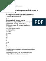 Geomecanica Analitica de La Roca Matriz