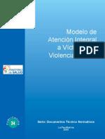 Modelo de Atención Integral a Víctimas de Violencia Sexual
