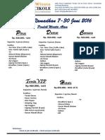 Package Ramadhan & High Season 2016 - Revisi Juli
