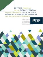 Lineamientos Para La Gestion de La Convivencia en Escuelas de Educacion Basica y Media Superor Del Edo de Veracruz